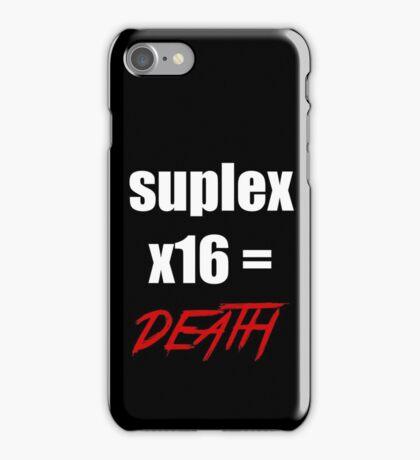brock leasnar suplex death iPhone Case/Skin