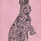 Rabbit_Pink by SuburbanBirdDesigns By Kanika Mathur
