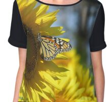 butterfly on a sunflower pt.2 Chiffon Top