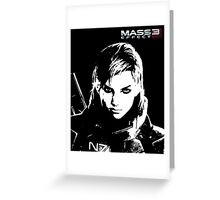 Mass Effect 3 - Female Commander Shepard Greeting Card
