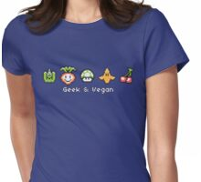 Geek and Vegan Womens Fitted T-Shirt