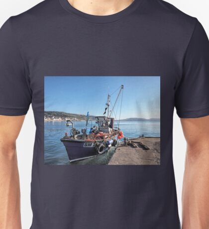 Fishing Boat At Lyme Regis Harbour Unisex T-Shirt
