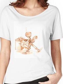 Robots Have Hobbies, colored drawing Women's Relaxed Fit T-Shirt