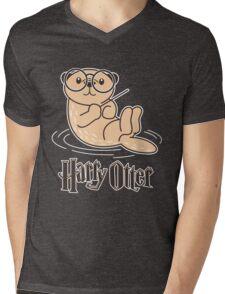 Harry otter Mens V-Neck T-Shirt