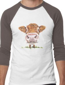 Cute Cow Men's Baseball ¾ T-Shirt