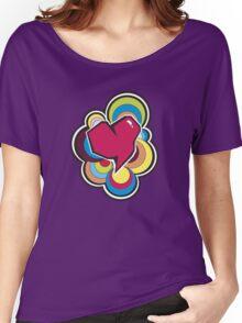 Retro Heart Women's Relaxed Fit T-Shirt