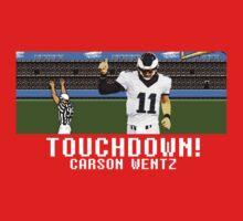 Tecmo Bowl Carson Wentz Kids Tee
