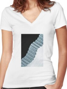 Knife Edge Stairs Women's Fitted V-Neck T-Shirt