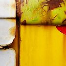 Abstract View Of A Truck Door by Larry Costales