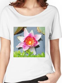 Pink Water Lilly Women's Relaxed Fit T-Shirt