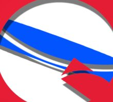 Family Camp Logo (Red, White, and Blue themed) Sticker