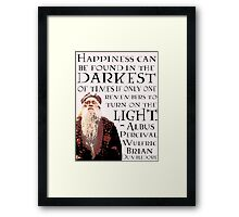 Dumbledore Quote Framed Print