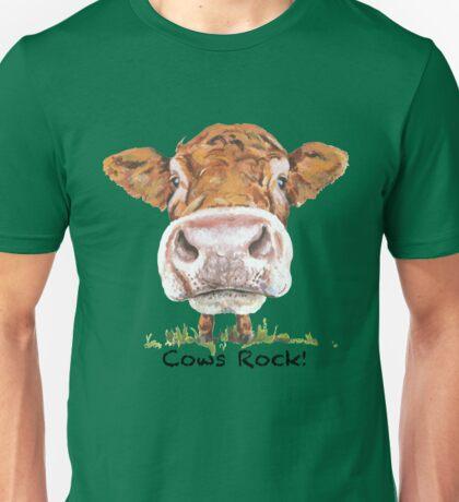 Cows Rock! Unisex T-Shirt