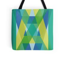 Letters Crossover (Green) Tote Bag