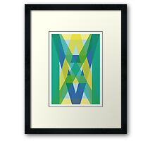 Letters Crossover (Green) Framed Print