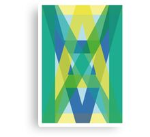 Letters Crossover (Green) Canvas Print