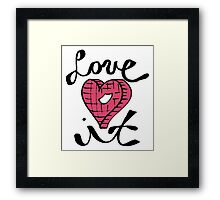 Love It Heart Framed Print