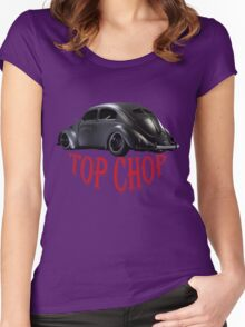 Limited Black Edition: Top Chop Beetle  Women's Fitted Scoop T-Shirt