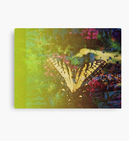 Expired Film Butterfly Double Exposed Canvas Print