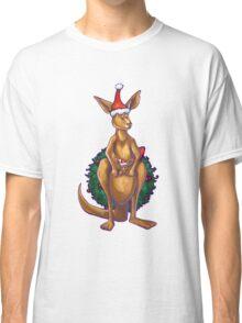 Kangaroo Christmas Silhouette Front Classic T-Shirt