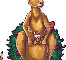 Kangaroo Christmas Silhouette Front by ImagineThatNYC