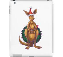 Kangaroo Christmas Silhouette Front iPad Case/Skin
