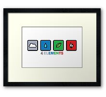 4 Elements Framed Print