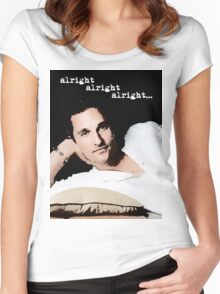 Alright Alright Alright - color Women's Fitted Scoop T-Shirt