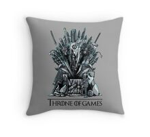Throne of Games - You Win Or You Die Throw Pillow
