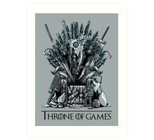 Throne of Games - You Win Or You Die Art Print