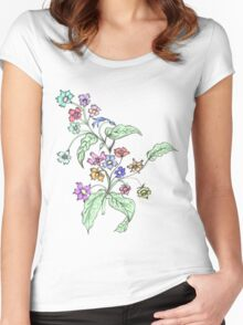 Doodle Bouquet Women's Fitted Scoop T-Shirt