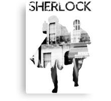 Monochrome Street Sherlock Metal Print