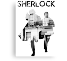 Monochrome Street Sherlock Canvas Print