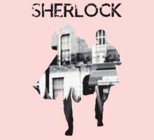 Monochrome Street Sherlock One Piece - Short Sleeve