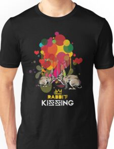 Rabbit kissing Unisex T-Shirt
