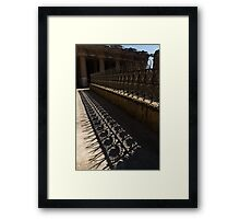 Shapes and Shadows - Antoni Gaudi, Park Guell, Barcelona, Catalonia, Spain Framed Print