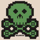 carb0nbase pixel skull by JoesGiantRobots