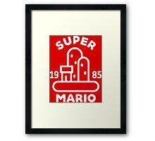 Super Mario Landscape Framed Print