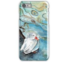 White Duck On Lake Constance In Winter iPhone Case/Skin