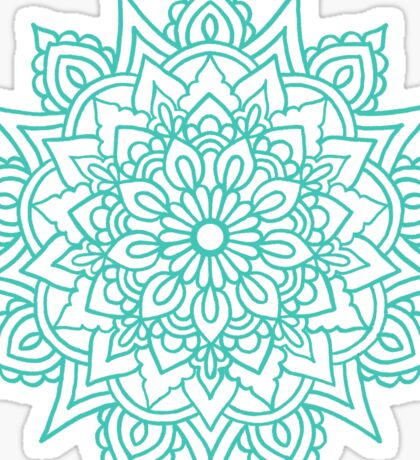 Teal Mandala Sticker