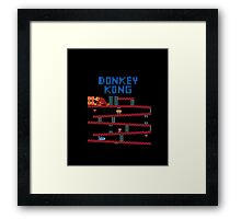 Donkey Kong the classic Nintendo arcade and console game Framed Print