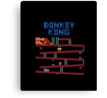 Donkey Kong the classic Nintendo arcade and console game Canvas Print
