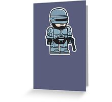 Mitesized Robocop Greeting Card