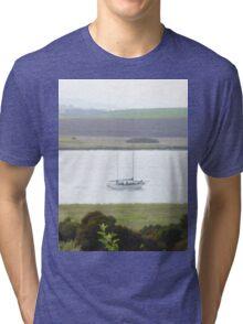 Yatch # Tamar River Tri-blend T-Shirt