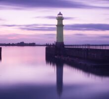 Newhaven Harbour after Sunset Sticker