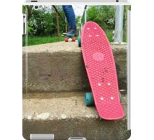 Cruiser boards on a bridge iPad Case/Skin
