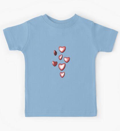 Unbreakable hearts red Kids Tee