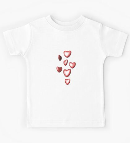 Unbreakable hearts red Kids Tee