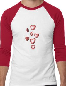 Unbreakable hearts red Men's Baseball ¾ T-Shirt