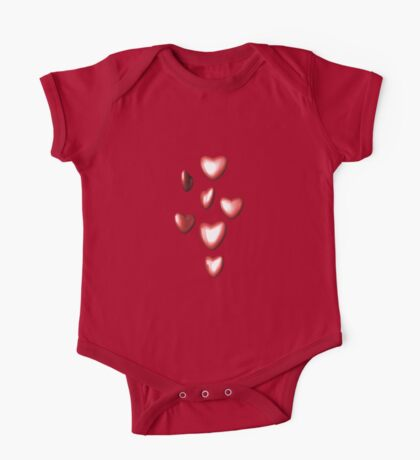 Unbreakable hearts red One Piece - Short Sleeve